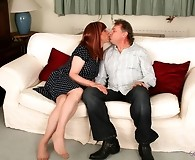 Lucimay sucking on some cock and getting spanked